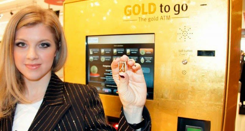 автомат с золотыми слитками