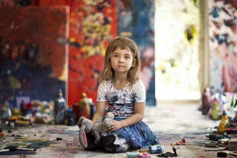 самая маленькая художница