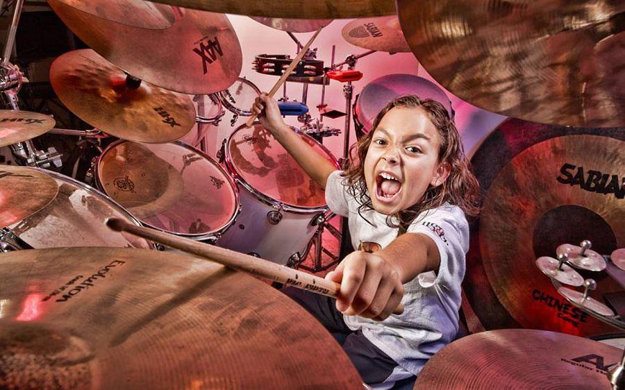 самый юный барабанщик