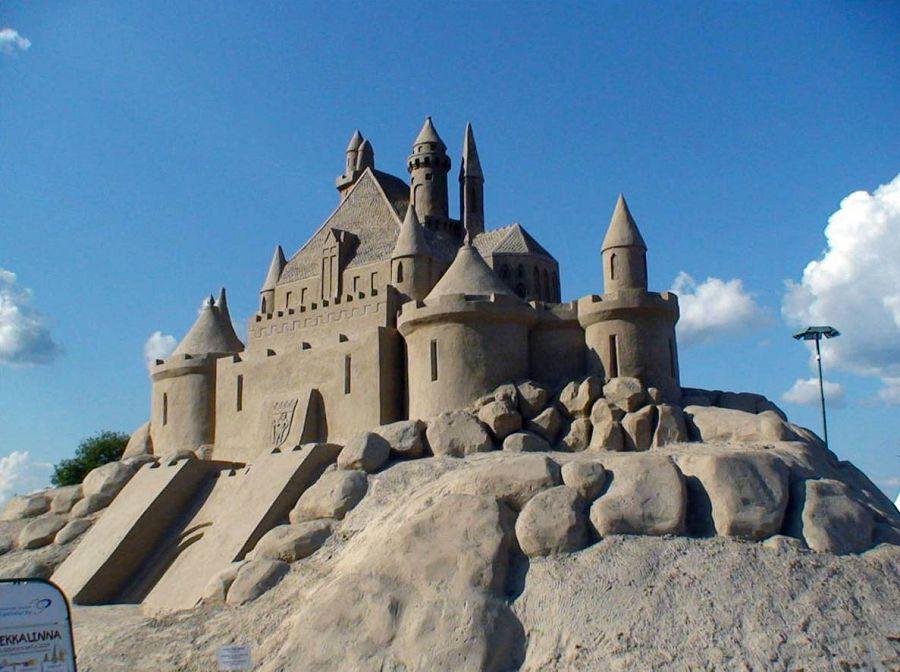 шедевры из песка. эпический замок в Финляндии