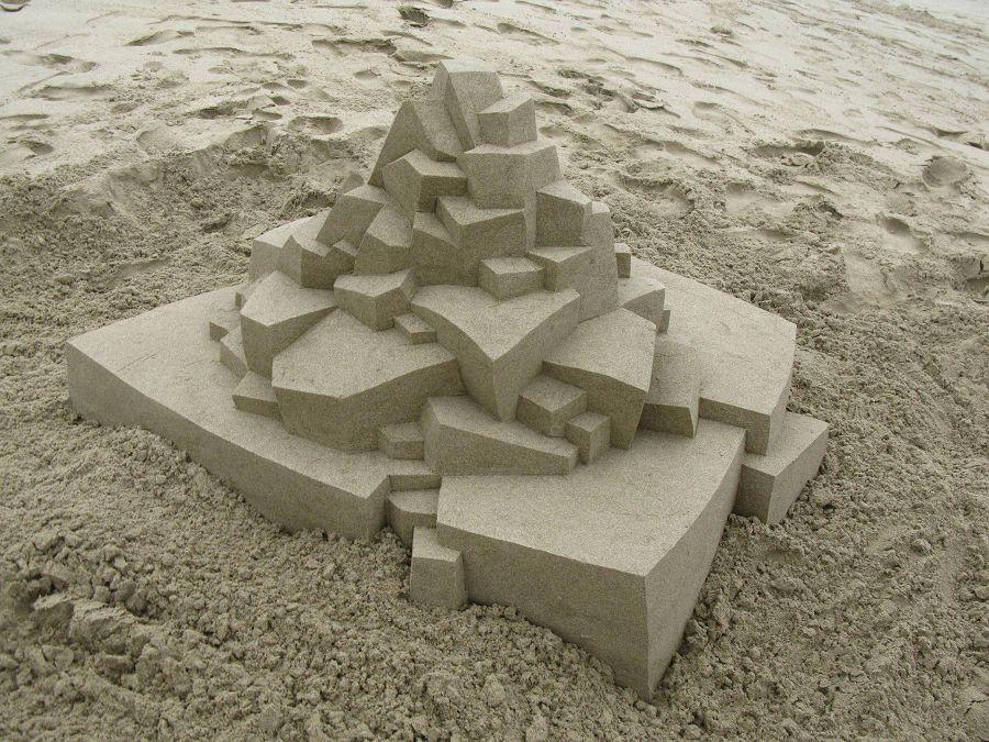 шедевры из песка. футуристический замок