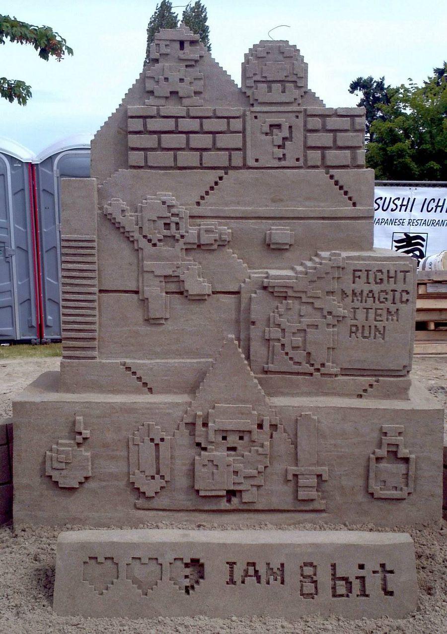шедевры из песка. геймерский замок