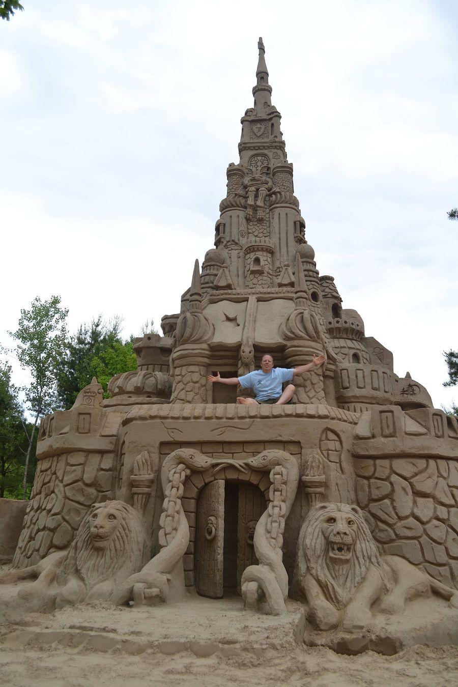 шедевры из песка. самый высокий замок в мире