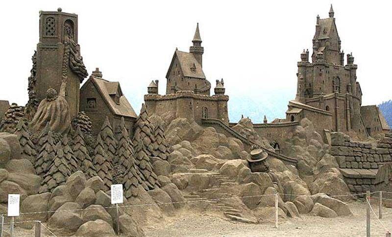шедевры из песка. замок Рапунцель