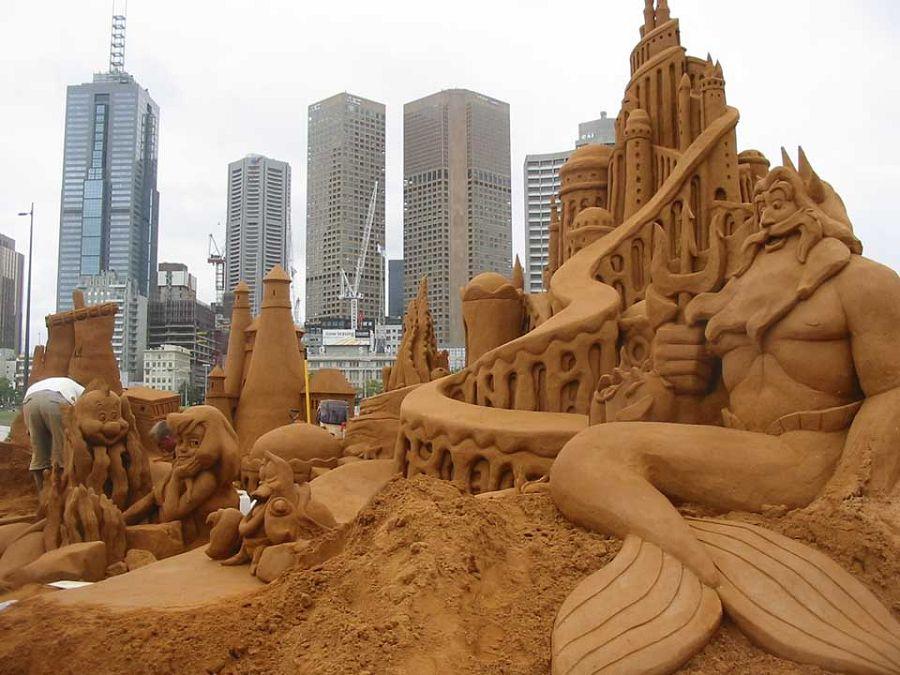 шедевры из песка. замок Тритона