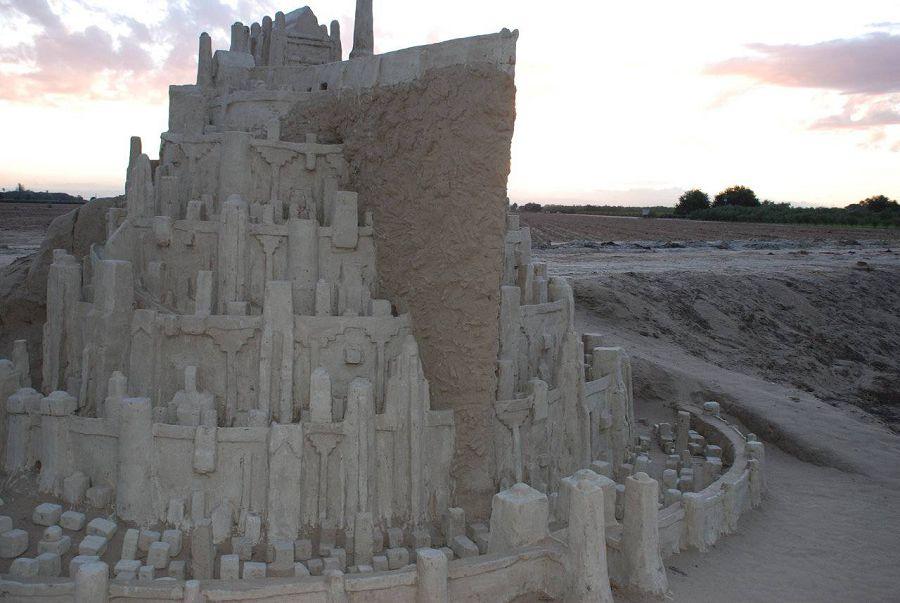 шедевры из песка. замок из Властелина колец