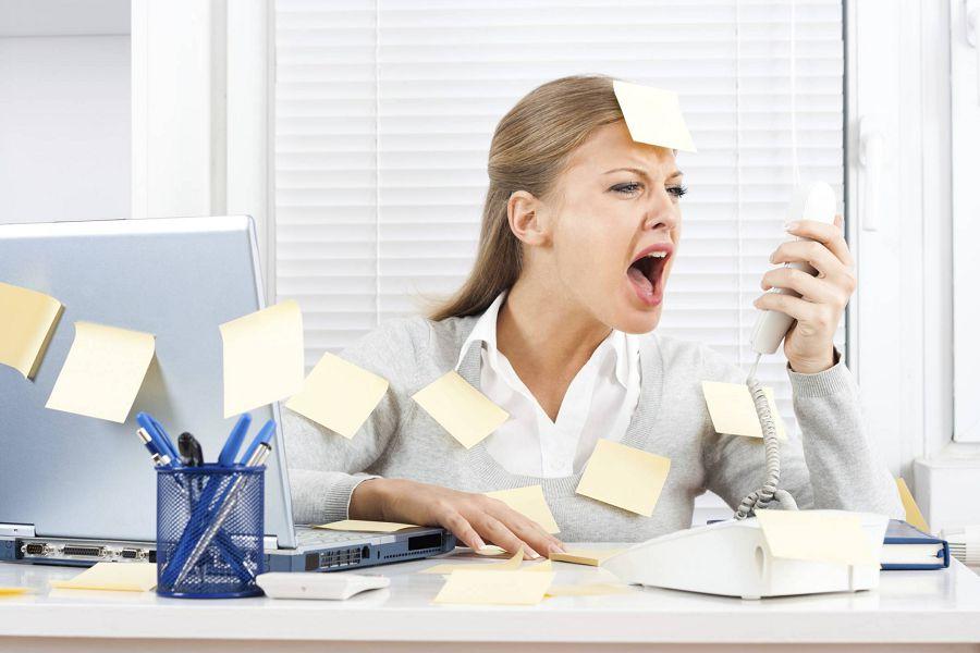 стресс и завал на работе