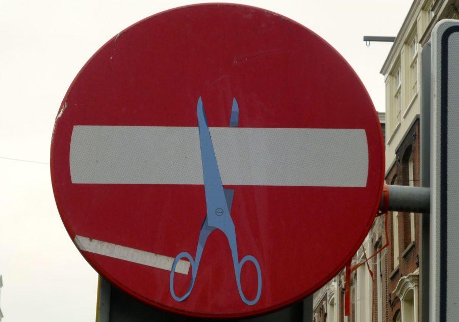 ножницы, знак кирпич