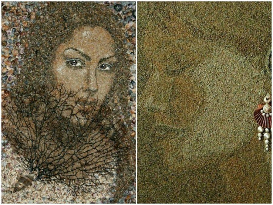 картины из ракушек и песка