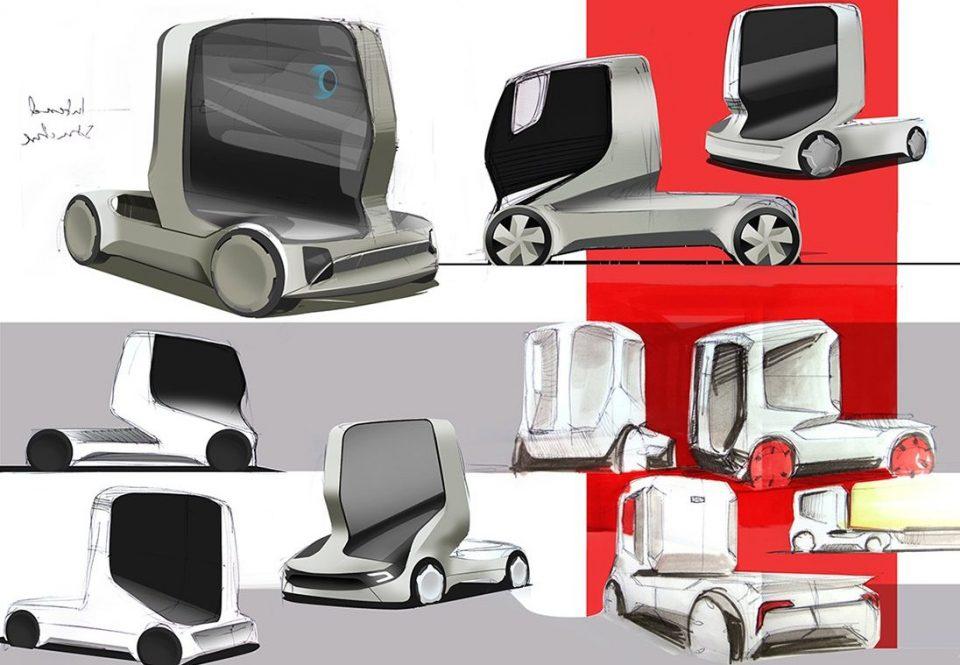 концепт беспилотного грузовика будущего