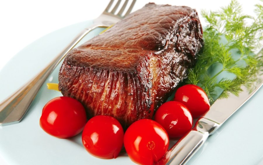 подрумяненное мясо
