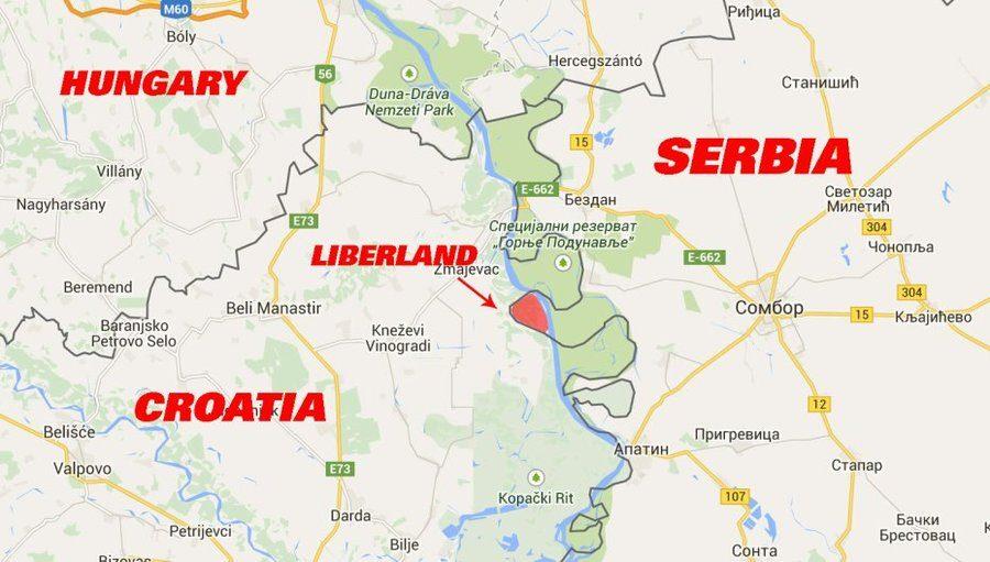 Либерленд на карте