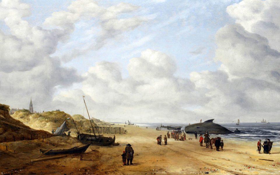 Вид песков Схевенингена