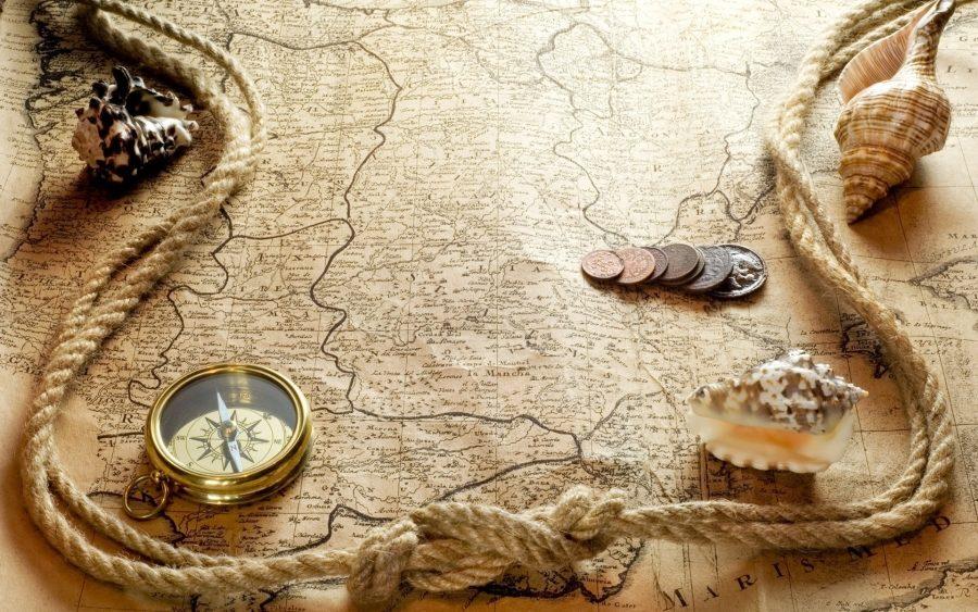 карта и монеты