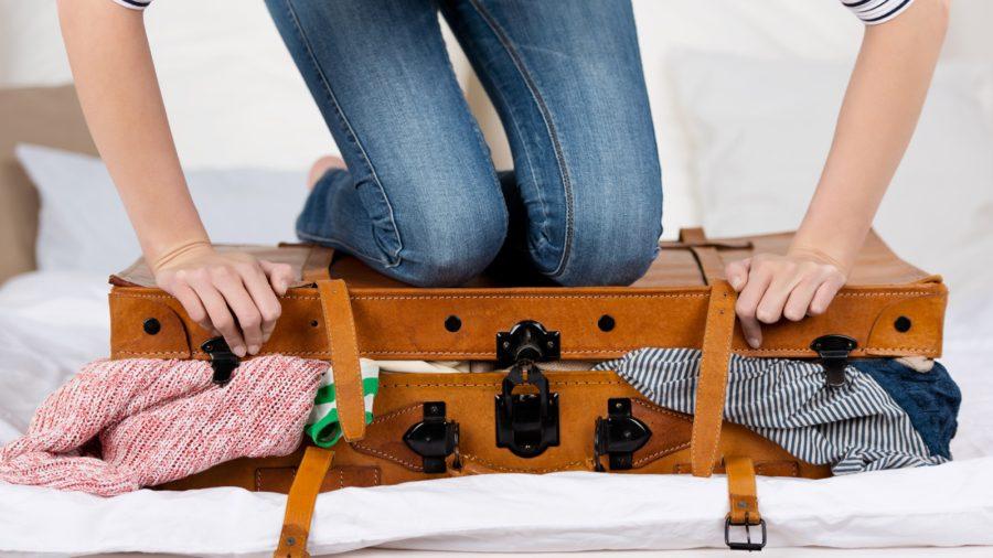 чемодан вещей