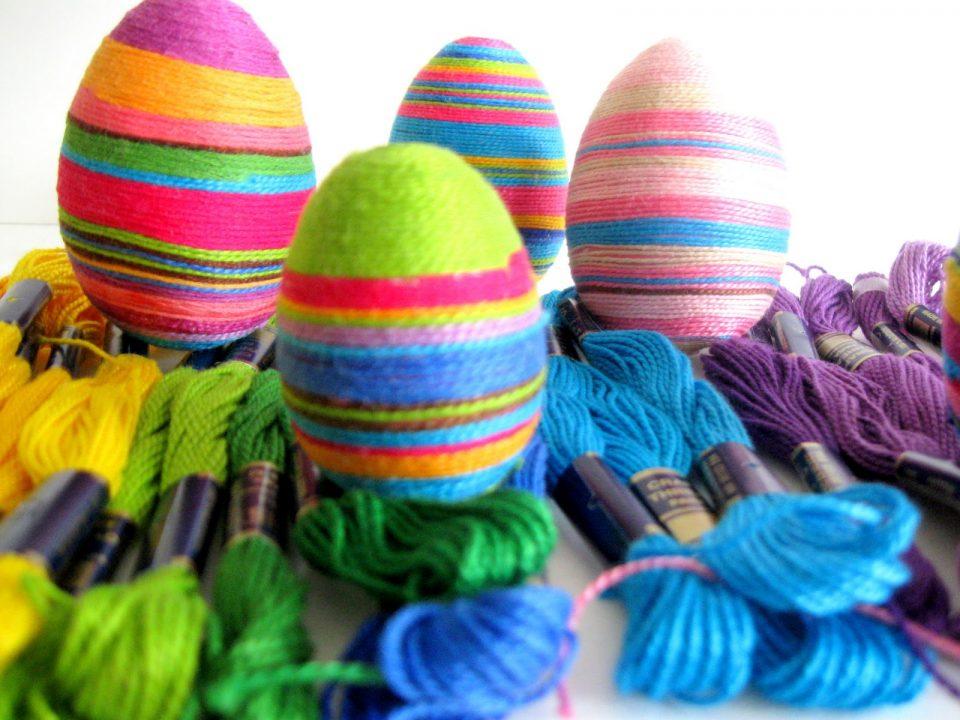 пасхальные яйца мулине