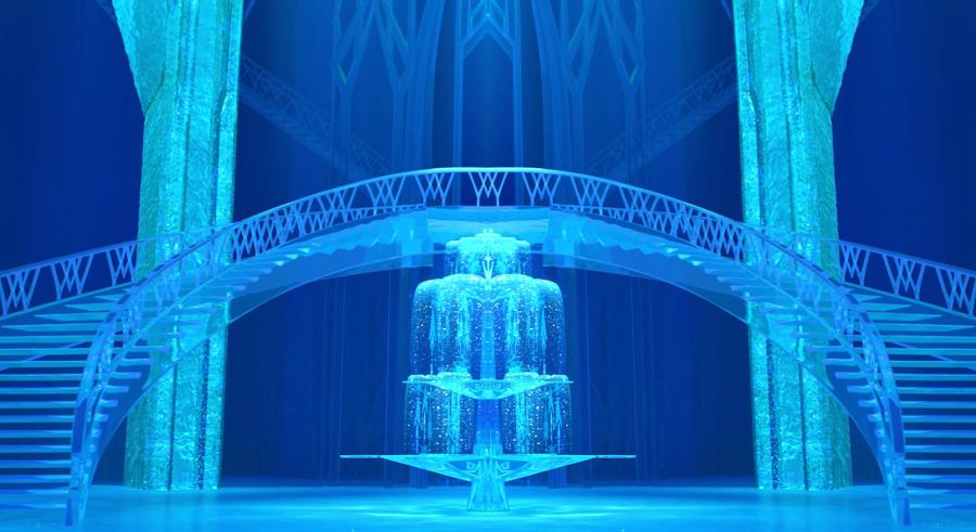 дисней. дворец Эльзы