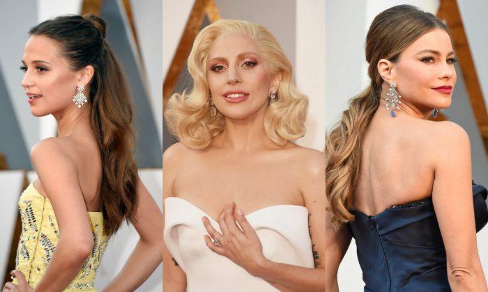 Драгоценности голливудских звезд на красной дорожке
