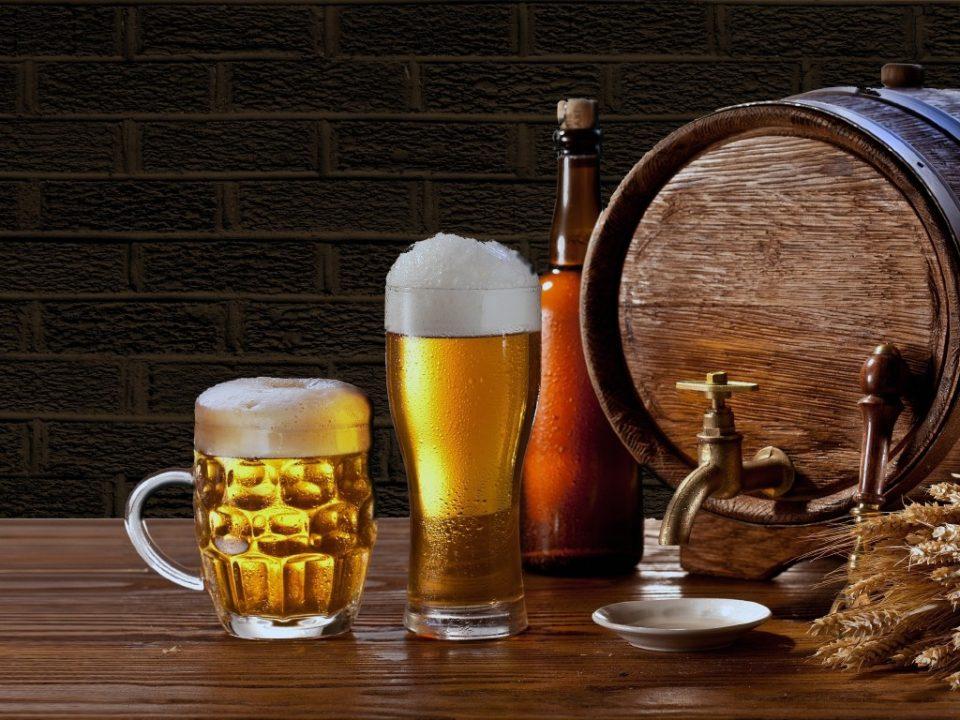 форма бокала пива