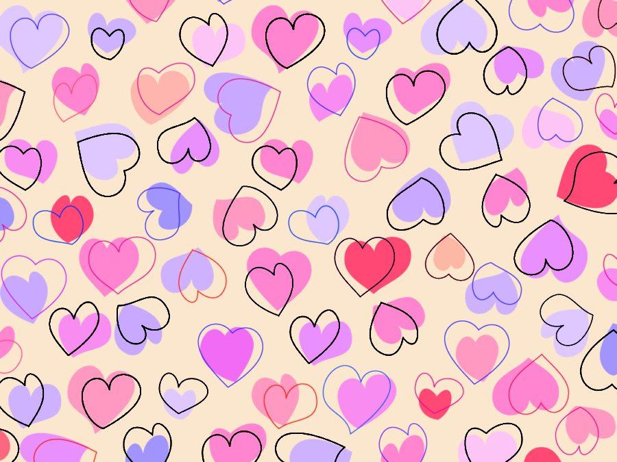 сердечки на бумаге