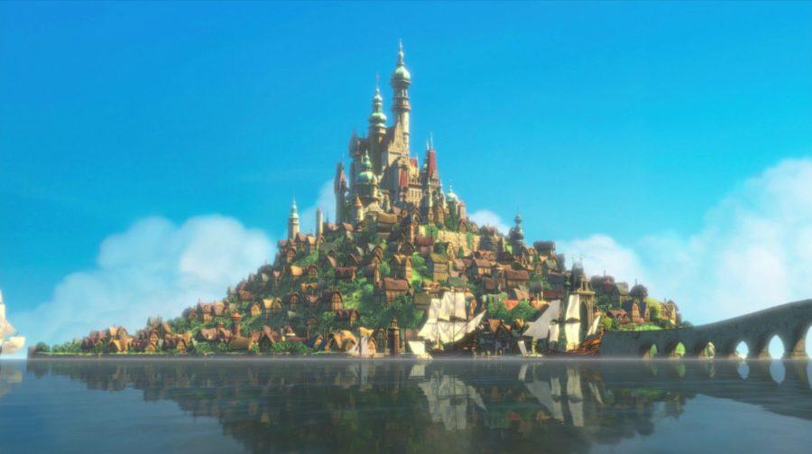 Мультфильм «Rapunzel», замок