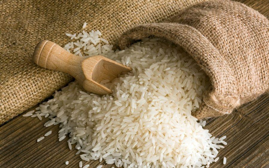 много риса