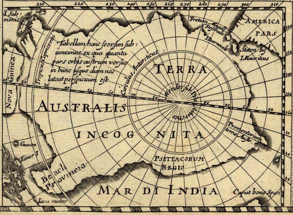 сказочные страны. Terra Australis Incognita на древних картах