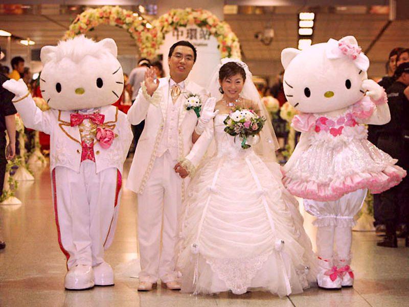 свадьба hallo kitty