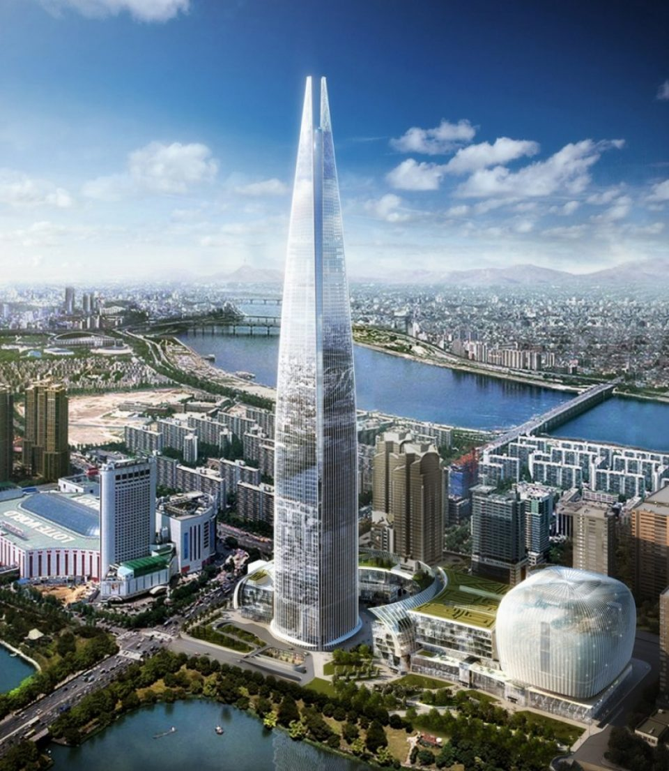 здания. Сеул Lotte World Tower