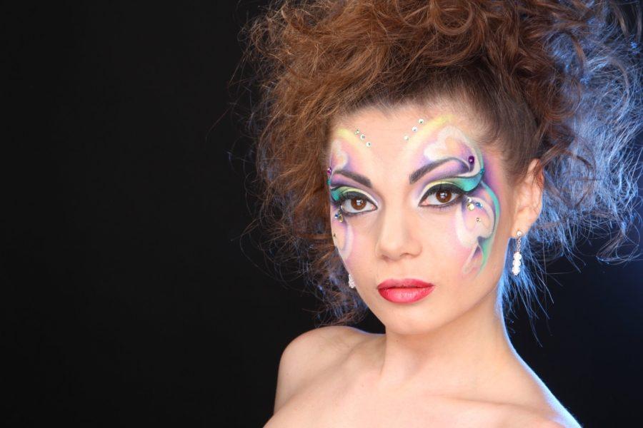 креативный макияж невесты