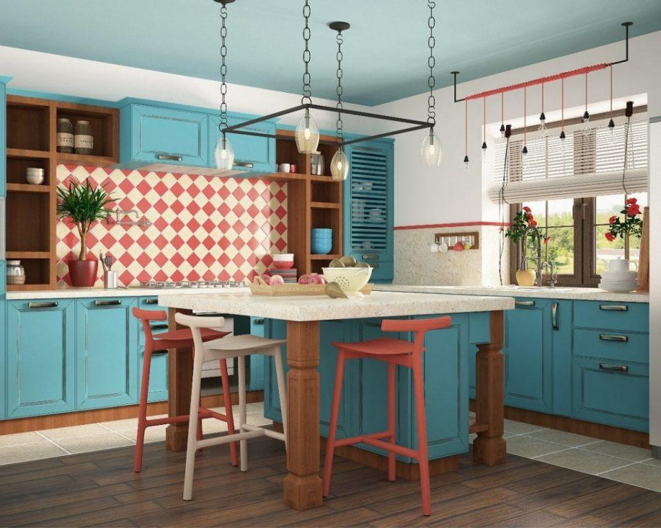 яркая кухня дизайн