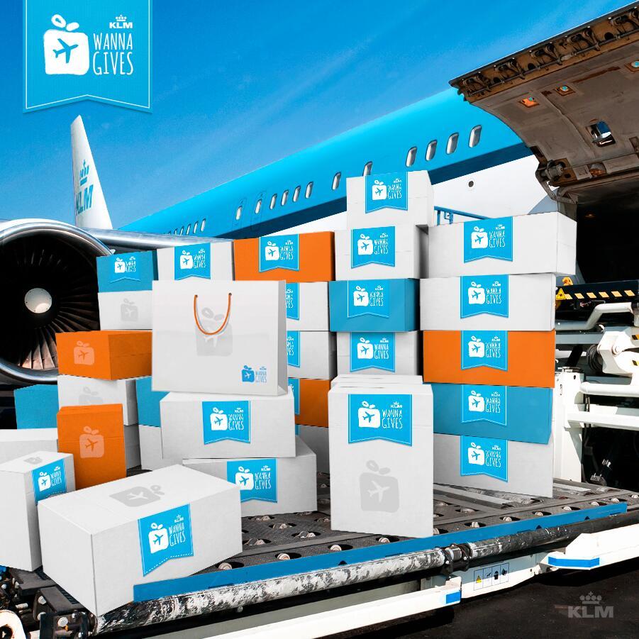 услуга WANNA GIVES от авиакомпании KLM
