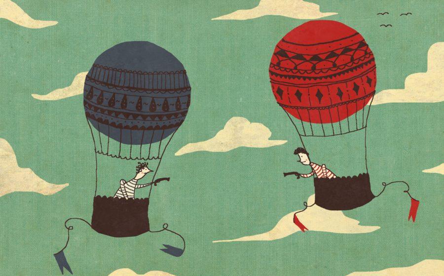 дуэли. Дуэль на воздушных шарах