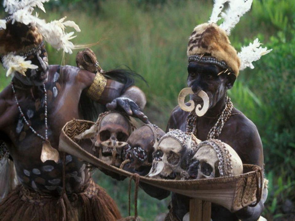 красота. Новая Гвинея. Воины племени асматов