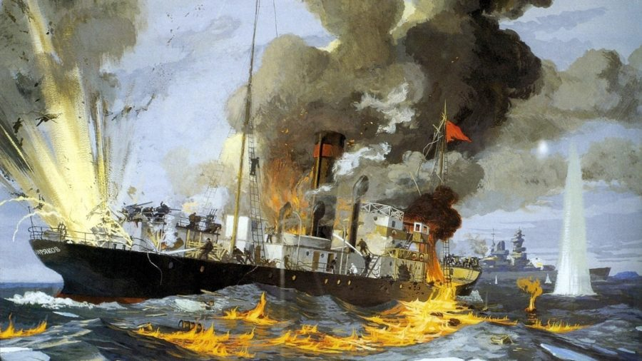 необитаемый остров. Бой ледокола с немецким крейсером