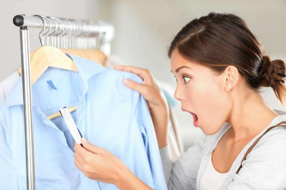 одежда с этикеткой