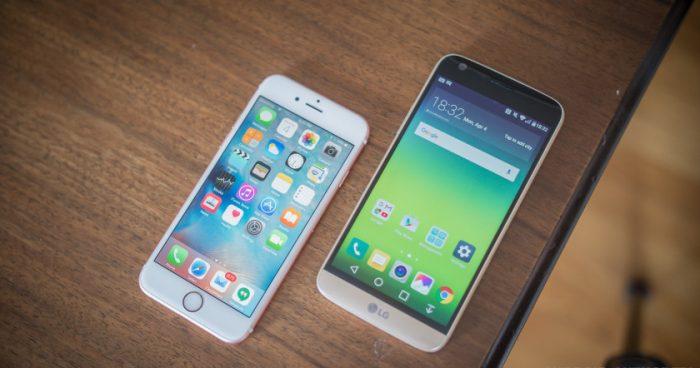 Пять причин, по которым LG G5 лучше, чем iPhone 6s