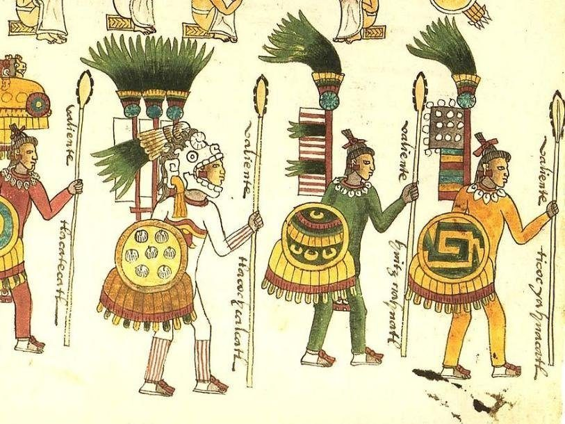 странные книги. Иллюстрация из книги Кодекс Мендоса