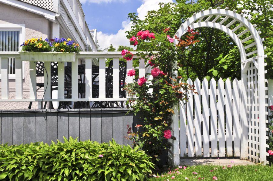 Забор с аркой