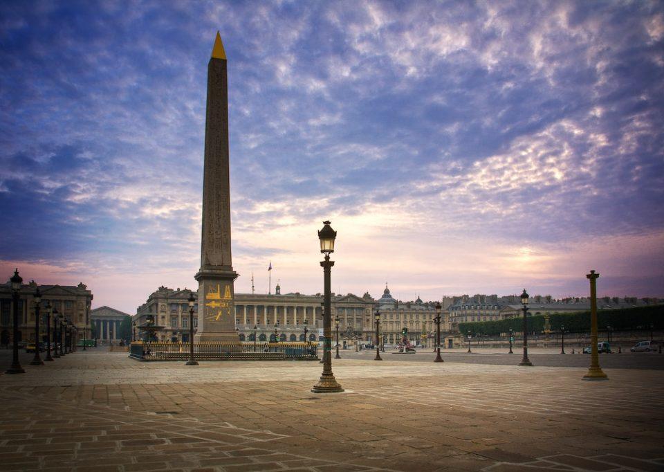 Площадь Согласия достопримечательности Парижа