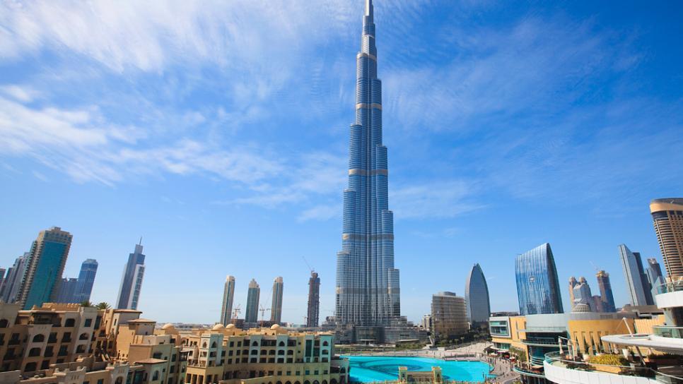 Башня Бурдж Халифа в ОАЭ