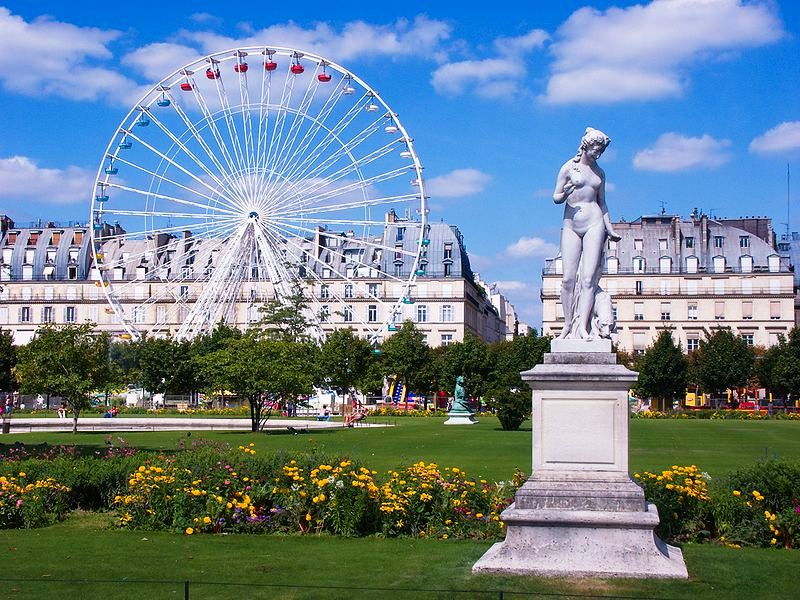Сад Тюильри достопримечательности Парижа