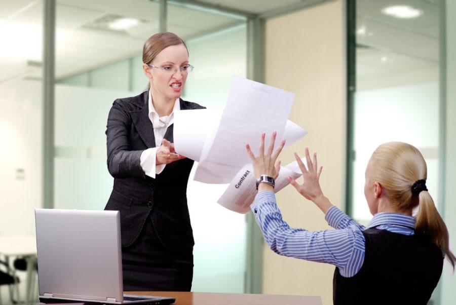 Грубое обращение с клиентом или компаньоном