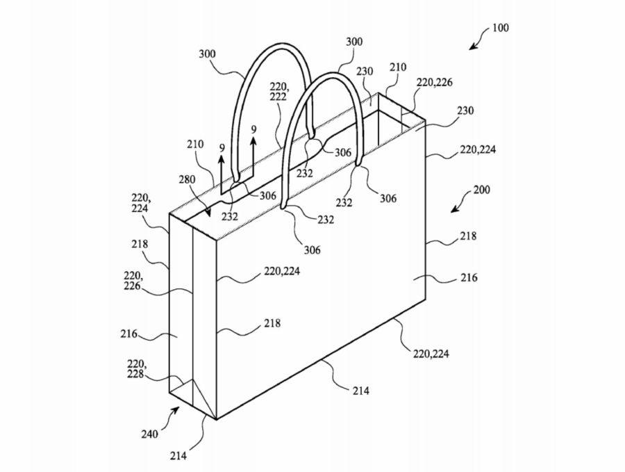 Apple регистрирует патент на бумажный пакет