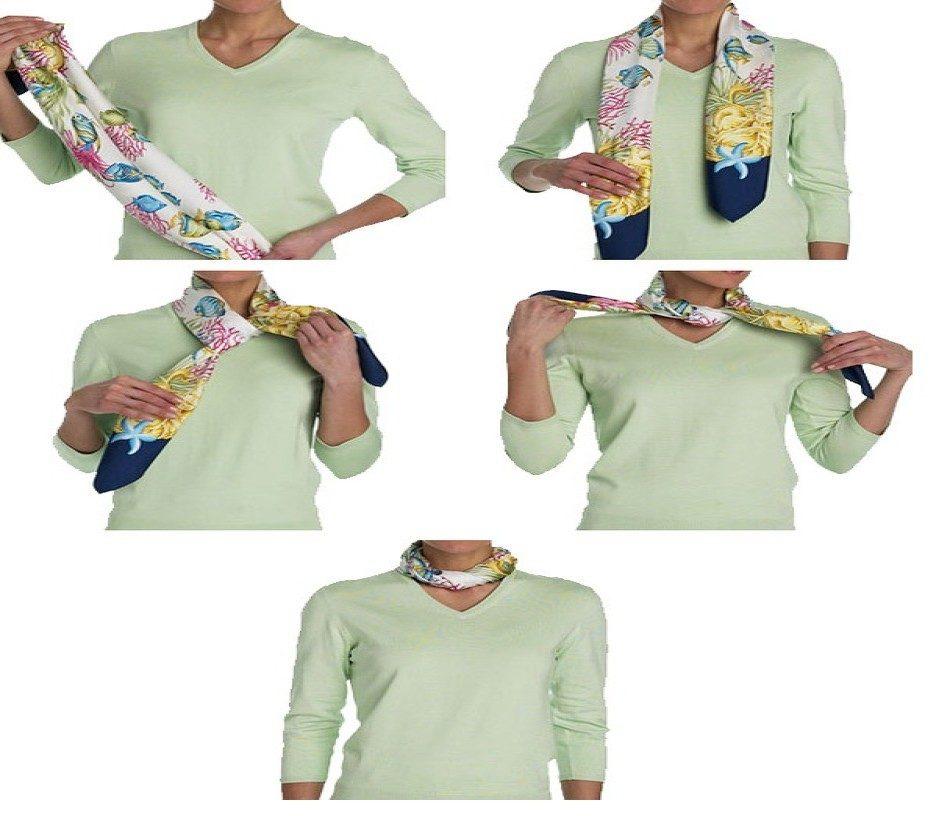 Стильный жгутик завязать платок на шее