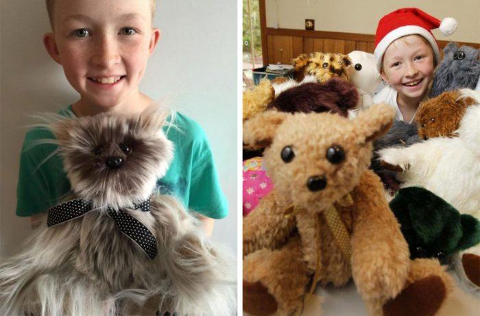 12-летний мальчик научился шить, чтобы сделать более 800 игрушек для больных детей