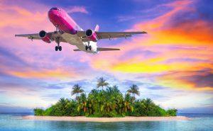 самолет над островом