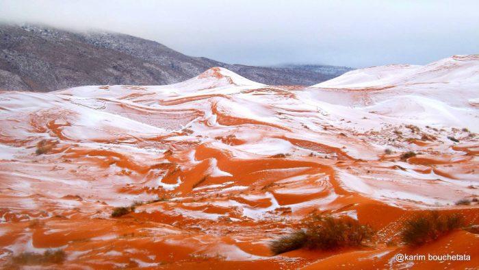 Сахару засыпало снегом, невероятное зрелище