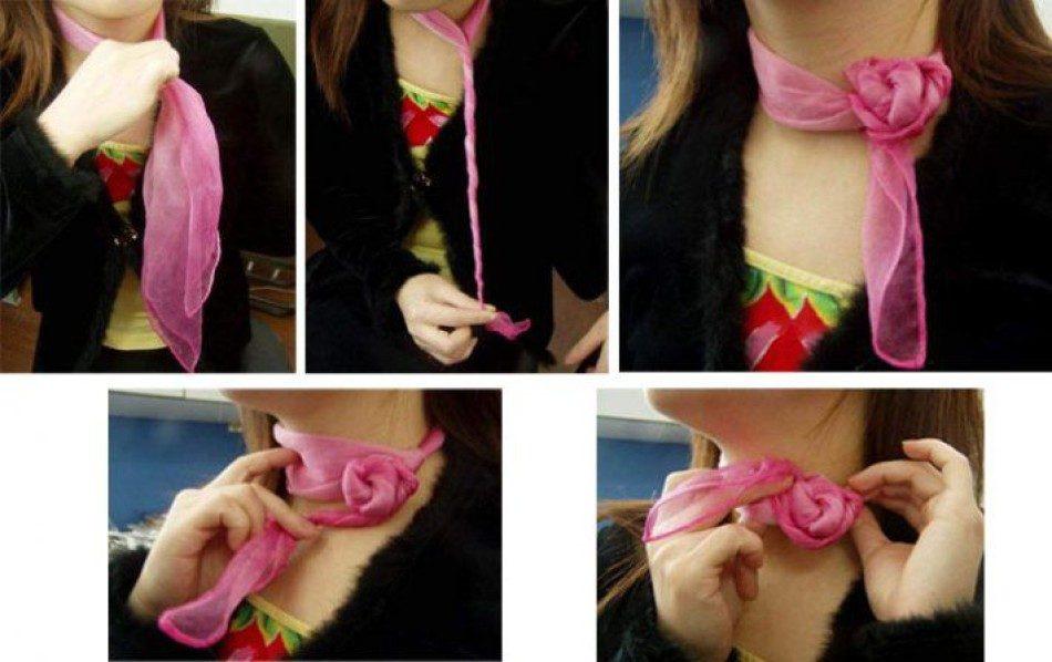 роза завязать платок на шее