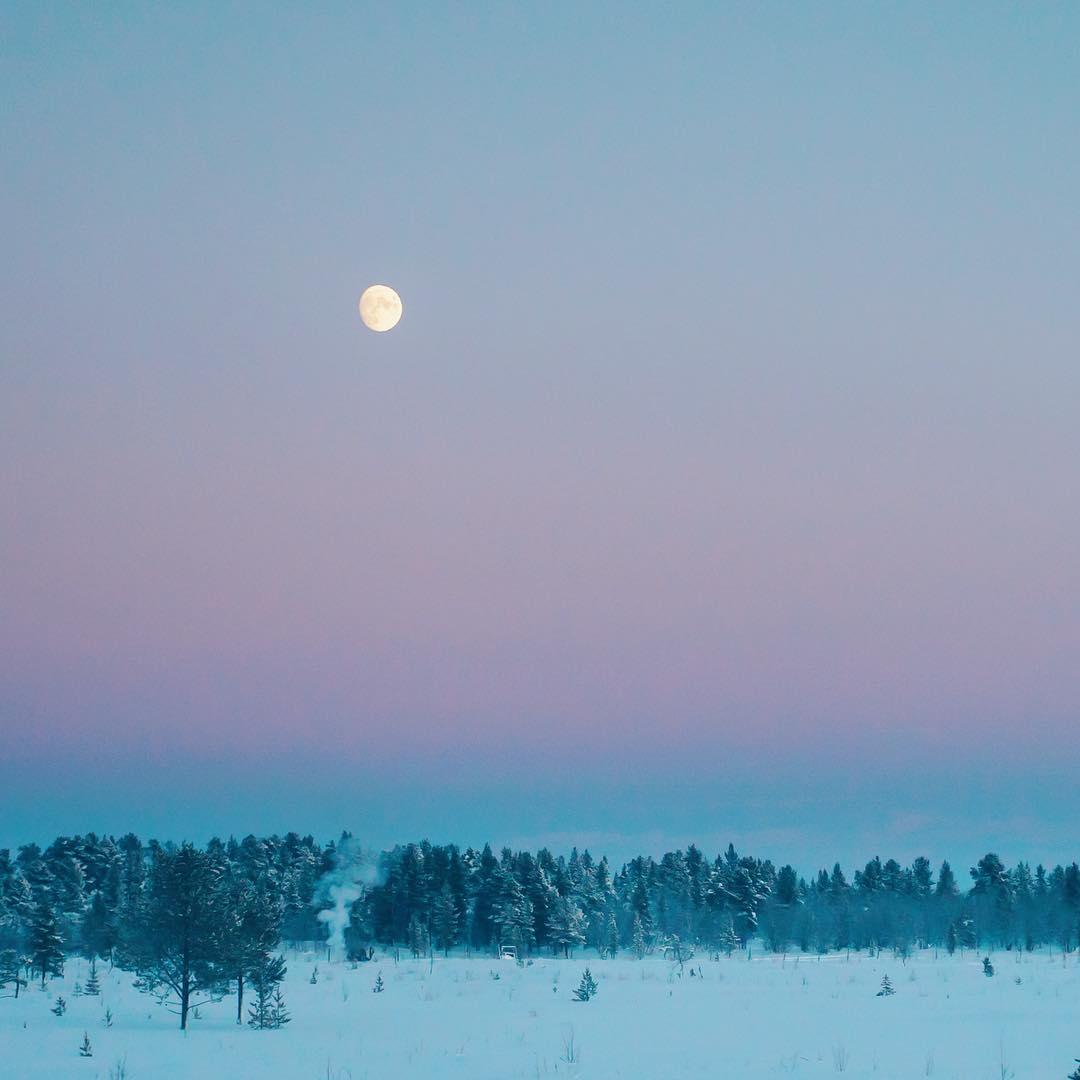 настоящая зима в финляндии